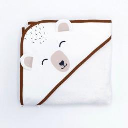 Cape de bain ours blanc
