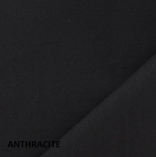 coton uni anthracite