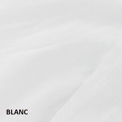 coton uni blanc