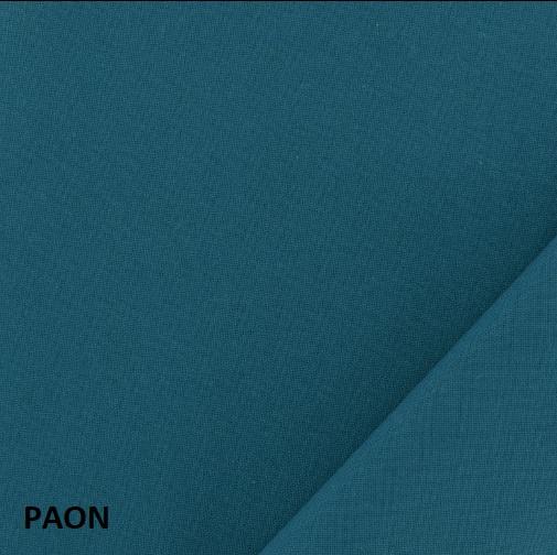 coton uni paon